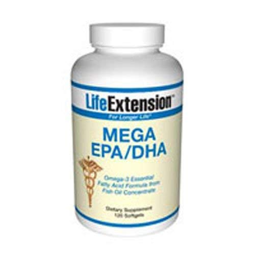 Life Extension Omega-3 Twice As Much EPA & DHA As Many Commercial Fish Oils 120 Softgels (Pack of 3)