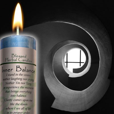 Blessed Herbal Candle - Inner Balance Coventry Creations BHC-IB