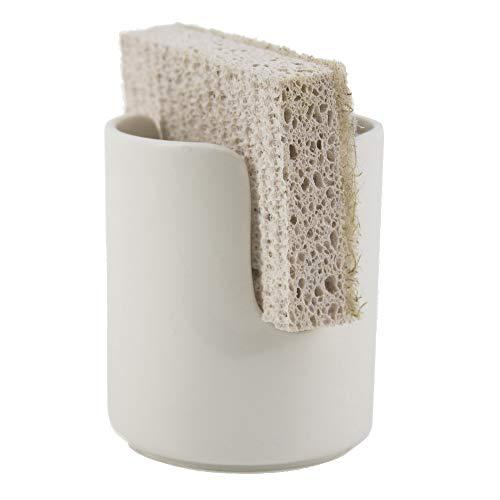 scarlettwares Sponge Holder Ceramic Holds One Sponge Kitchen Organization ()