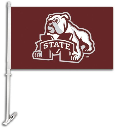 NCAA Mississippi State Bulldogs Car Flag Bulldog with Free Wall -