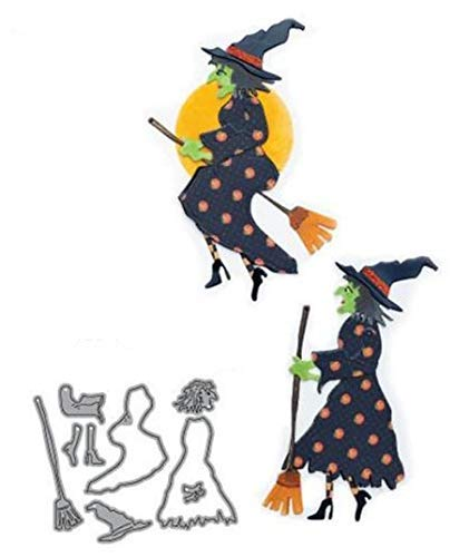 Unknown Halloween Witch Metal Cutting Dies Clear Stamps Scrapbooking New 2018 Dies Stamps for Card Making Craft Stencil Dies