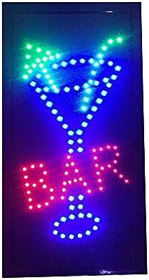 RongZhan Cartel de Bar Pub con Luces de neón LED Animado ...