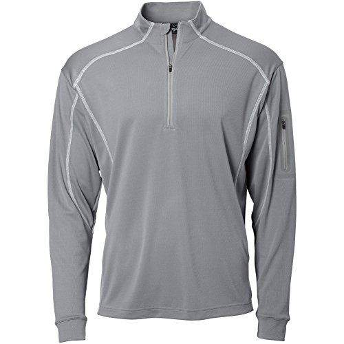 TGW Mens Tour 1/4 Zip Pullover Grey L