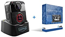 Bundle: Force Protection Video LE50, 1296p Police Body Worn Camera, Dash Cam capable, GPS Enabled, with VeriPic Locker Software (12 Month SaaS), live person training, installation help, tech support