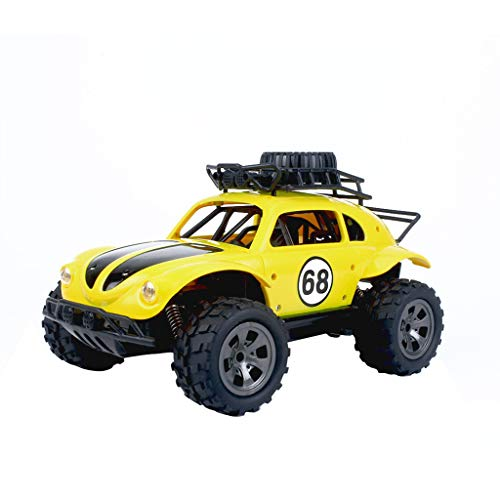 - Ktyssp 1:18 2.4G Remote Control 2WD Off-Road Truck High Speed RTR RC Car Toy (Yellow)