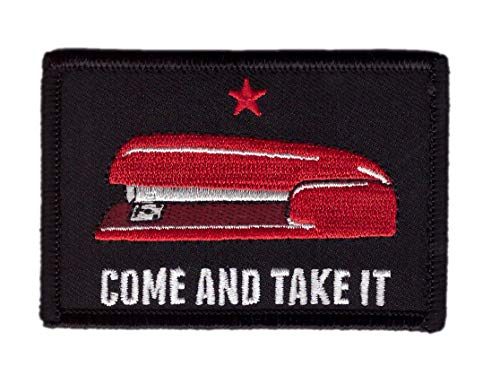 Hook Come and Take it Office Red Stapler Molon Labe Tactical