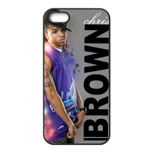 Chris Brown 004 2 coque iPhone 5 5S cellulaire cas coque de téléphone cas téléphone cellulaire noir couvercle EOKXLLNCD22815