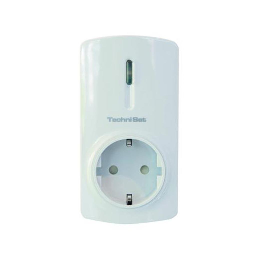 TechniSat TECHNIHOME Z1 (Smart Home Zwischenstecker, schaltbarer Zwischenstecker zur Steuerung Elektrischer Geräte, Umschaltung erfolgt drahtlos über Funkbefehle) weiß 0000/9506