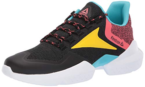 Reebok Split Fuel, Black/True Grey/Bright Rose/Yellow/Blue/White, 4 M ()