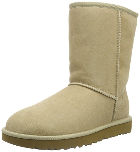 UGG Women's Classic Short II Winter Boot, Sand, 7 B US by UGG