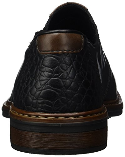 Rieker 17662, Mocasines para Hombre Negro (Schwarz/kastanie)