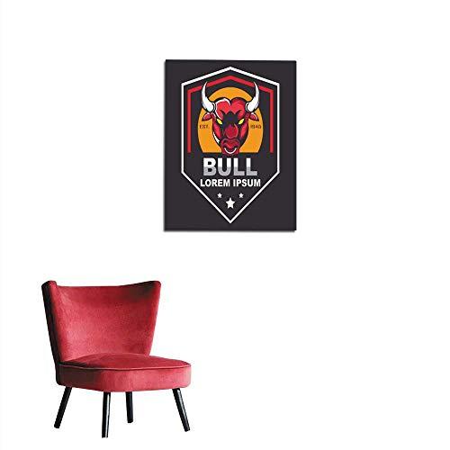 longbuyer Wall Paper Bull Design Template Mural 20