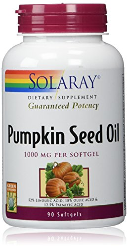 Solaray Pumpkin Seed Oil, 1000 mg, 90 Count
