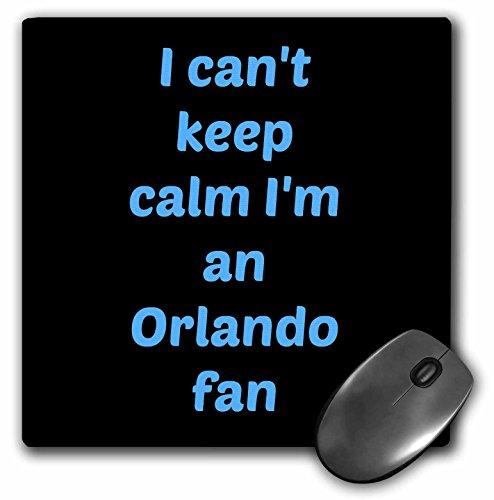 3dRose Jacob Ariel sport quotes - I cant keep calm Im an Orlando fan, light blue, black - MousePad (mp_172884_1)