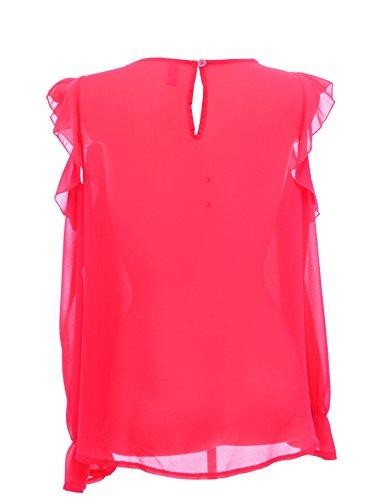 Rlinea - Camisas - corte imperio - Sin cuello - para mujer Coral