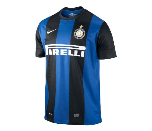 Inter Milan Soccer Jersey (Nike Inter Ss Home Repl Jsy-Black (M))
