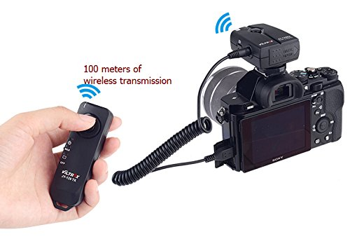 JFOTO Viltrox Wireless Remote Control Shutter Release, 2.4GHz Global Frequencies, Single Shot, Time-lapse Shot, BULB Function, for Sony a7II a7R a7S a7 a58 NEX-3N a5000/5100/6000/3000 HX50/60/300/400