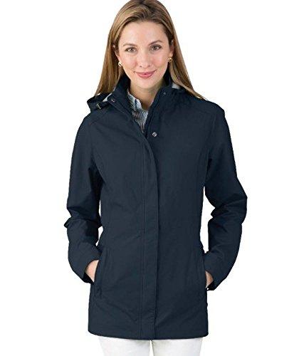 Charles River Apparel Women's Logan Jacket Graphite Navy XXL
