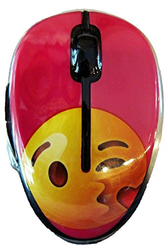 Onn Emoji Wireless Mouse - Kissing Heart -