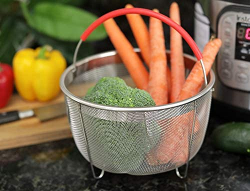 Original Salbree Steamer Basket for 3qt Instant Pot Accessories Stainless Steel Strainer and Insert
