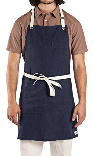 Linen Kitchen Apron for Men and Women - Inspired by Professional Chefs - by Abbot Fjord