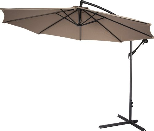 Deluxe Polyester Offset Patio Umbrella