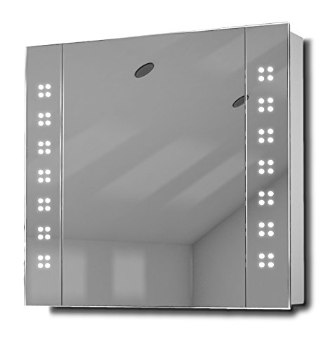 Amaze LED Mirror Bathroom Mirrored Cabinet With Sensor & Shaver k19 by Diamond X Collection
