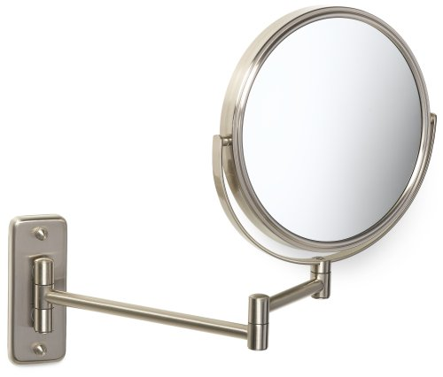 Jerdon JP7808N 8-Inch Two-Sided Swivel Wall Mount Mirror with 8x Magnification, 13.5-Inch Extension, Nickel Finish by Jerdon (Image #2)