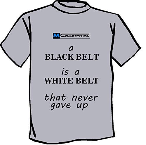 Bambino e Adulto MCOMPETITION Maglietta T-Shirt Jujitsu Judo Karate Aikido Arti Marziali Black Belt FC2
