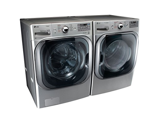 LG Graphite Steel Front Load Laundry Pair with WM8100HVA 29″ Washer and DLEX8100V 29″ Electric Dryer