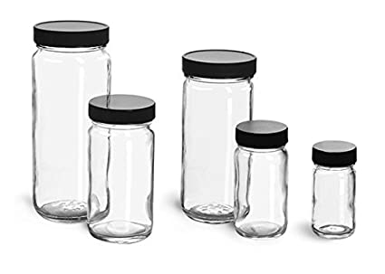 Amazoncom 2 oz Glass Jars Clear Glass Paragon Jars w Lined