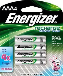 Energizer Rechargeable Aaa Batteries (Energizer AAA Rechargeable Batteries, High Capacity Pre-Charged (4 Count))