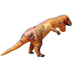 T-Rex Dinosaurio Disfraz inflable Outfit BLOWUP adulto Halloween Fancy Dress Suit café