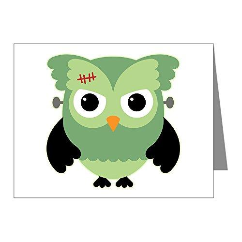 Note Card Spooky Little Owl Frankenstein Monster]()