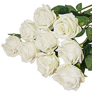 qsbai 1Pc Artificial Fake Rose Flower Garden Home Wedding Bridal Party Decoration - 2# 70
