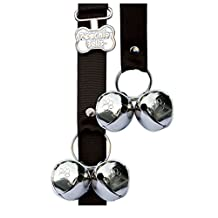 PoochieBells The Original Handcrafted Dog Potty Bell For Happy Dog Owners Since 2005; Solid Color Home Fashion Collection; PoochieBells Lets Your Dog Talk to You at Potty Time;  Step by Step Guide Included on How Your Dog Will Train Their Human Included,black