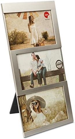 Comprar Balvi Marco Dijon Color Plateado Capacidad: 3 Fotos de 10x15 cm Marco de Fotos para sobremesa Plástico 34x16 cm