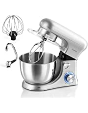 albohes Stand Mixer, 1500W 4 Quart Aluminium Electric Kitchen Mixer Food Blender Dough Mixer with Stainless Steel Bowl, Dough Hooks/Whisk/Flat Beater, Noise Less Than 70 dB