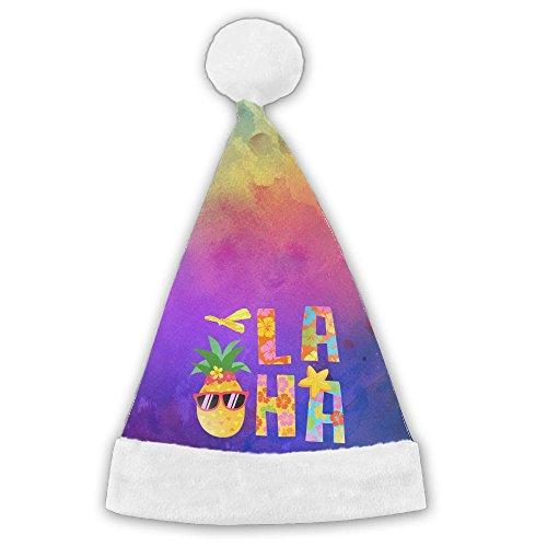JYDPROV Summer Beach Aloha Hawaii Pineapple Christmas Santa Cap (Party Runescape Hat)