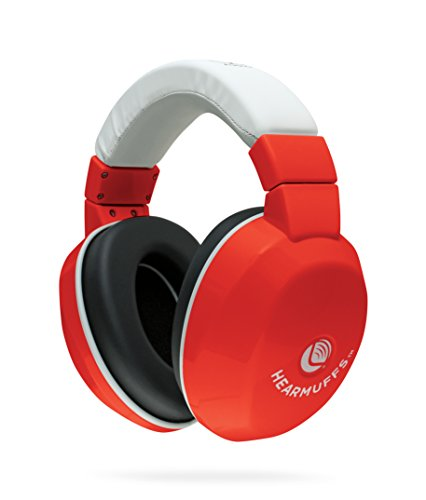 Lucid Audio HearMuffs Kids Hearing Protection Red/White (Over-the-ear Sound Protection Ear Muffs Ages 5+) by Lucid Audio