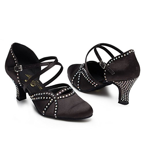 Meijili - plataforma mujer , color Negro, talla 43