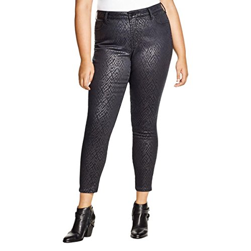 NYDJ Womens Alina Printed Slimming Fit Leggings Black 20W