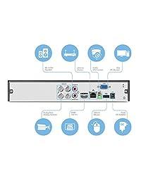 Amcrest 4K Sistemas de cámaras de seguridad de video DVR analógico Sistema de cámara de seguridad DVR Black