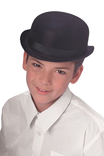 Charlie Chaplin Costume Kids (UHC Boy's Durashape Derby Hat Headpiece Child Halloween Costume Accessory)