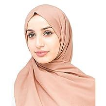 InEssence© New Cork Orange Cotton Voile Scarf Ladies Wrap Hijab Maxi Size