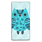 Facial Tissue As Toilet Paper - Cute Owl With Ethnic Ornament Printed Kitchen Towels/Washcloths/Dish Rags,Multipurpose for Kitchen,Bathroom and Car