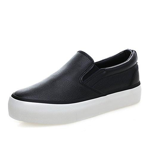Bajo zapatillas superior/Zapatos del estudiante/La versión coreana de zapatos de lona/Zapatos de mujer/Suela gruesa plataforma con los planos superficiales/Mocasín B