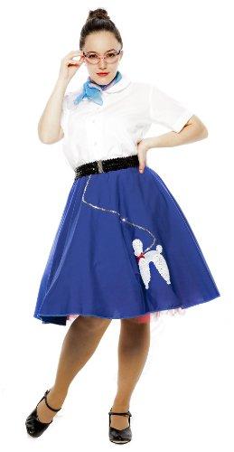 Cotton Poodle Skirt - Small/Medium - Blue]()