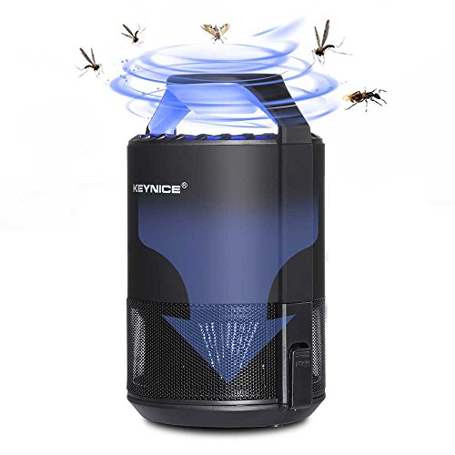 KEYNICE Nontoxic Mosquito Killer USB Power Mosquito Trap for Indoor Outdoor Home/Office Use Anti-Mosquito Insect Fly Inhaler Led Lamp Flying Catcher - Black ()