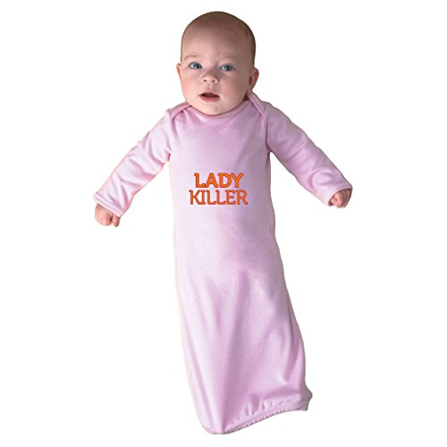 (Cute Rascals Lady Killer Infant Baby Rib Layette Sleeping Gown Soft Pink Gown Only)